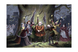 Scene from Shakespeare's the Merry Wives of Windsor, 1856-1858 Giclee Print by George Cruikshank