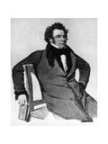 Franz Peter Schubert, Austrian Composer, 1825 Giclee Print by Wilhelm August Rieder