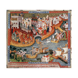 Marco Polo Sailing from Venice in 1271 Giclee Print