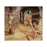The Martyrdom of St Sebastian, 15th Century Giclee Print