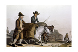 Wool Merchant Taking 'Pieces' of Cloth to the Cloth Hall at Leeds for Sale, 1814 Giclee Print