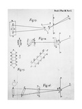 Plate from Opticks, by Isaac Newton, Showing the Splitting of Light Through Prisms, 1704 Giclee Print