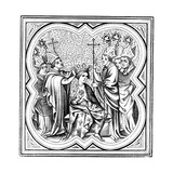 The Coronation of Charlemagne (712-81), 14th Century Giclee Print