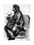 Alfred, Lord Tennyson, British Poet, 1855 Giclee Print by Dante Gabriel Rossetti