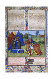 Page from Le Livre De Lancelot Du Lac (The Book of Sir Lancelot of the Lak), 15th Century Giclee Print