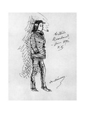 Arthur Rimbaud, French Poet and Adventurer, 1895 Giclee Print by Paul Verlaine