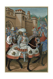 Louis XII, King of France, Riding Out with His Army to Chastise the City of Genoa, 24 April 1507 Lámina giclée por Jean Marot