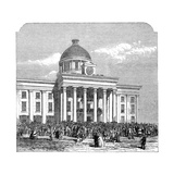 Inauguration of Jefferson Davis, President of the Confederacy, Montgomery, Alabama, 1861 Giclee Print