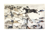 Battle of Little Bighorn, Montana, USA, 25-26 June 1876 Giclee Print