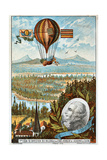 First Attempt by Guyton De Morveau to Direct a Balloon, Dijon, France, 1784 Giclee Print