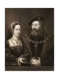 Mary Tudor and Charles Brandon, Duke of Suffolk, 1515 Giclee Print by Jan Gossaert