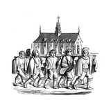 The Corporation of the Goldsmiths of Paris Carrying the Shrine of St Genevieve, 17th Century Giclee Print