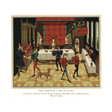 Table Service of a Lady of Quality, 15th Century Giclee Print