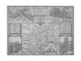 Maps of London, 1610 Giclee Print by John Norden