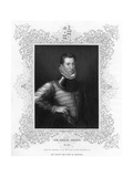 Philip Sidney, 16th Century English Soldier, Statesman, Poet, and Patron of Poets, C1840 Giclee Print by Antonis Mor