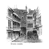 The George Inn, Southwark, London, 1887 Giclee Print