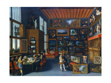 Cognoscenti in a Room Hung with Pictures, C1620 Giclee Print
