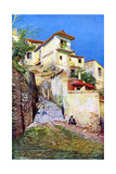 Albaicin, the Old Quarter of Granada, Andalusia, Spain, C1924 Giclée-Druck
