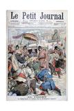 The 13th Dalai Lama Fleeing the British Invasion of Tibet, 1904 Giclee Print