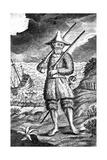Robinson Crusoe, C1719 Giclee Print