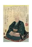 Memorial Portrait of Hiroshige, 1858 Giclee Print by Utagawa Kunisada