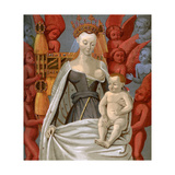 Agnès Sorel (1421-145), Mistress of King Charles VII of France, C1450 Giclee Print by Jean Fouquet