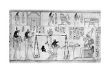Judgement of the Dead, from the Temple of Deir-El-Bahari, Egypt, C1025 BC Giclee Print