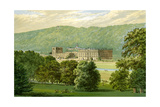 Chatsworth House, Derbyshire, Home of the Duke of Devonshire, C1880 Giclee Print by Benjamin Fawcett