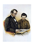 Abraham Lincoln and His Son Tad, 9 February 1864 Giclee Print