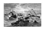 Burnside's Expedition Crossing Hatteras Bar, North Carolina, 1861-1862 Giclee Print