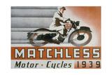 Poster Advertising Matchless Motor Bikes, 1939 Giclee Print