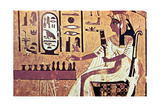 Wall Painting from the Tomb of Nefertari, Thebes, Ancient Egypt, 19th Dynasty, 13th Century Bc Giclee Print