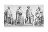Statues on Holborn Viaduct, City of London, 1869 Giclee Print