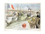 Korrigan, French Navy Submarine, 1906 Giclee Print
