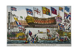 Launch of HMS 'Thunderer, Woolwich Royal Dockyard, Kent, 1831 Giclee Print