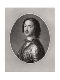 Peter the Great, Tsar of Russia Giclee Print by Jean-Marc Nattier