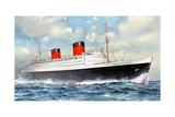 RMS Queen Elizabeth, Cunard Ocean Liner, 20th Century Giclee Print