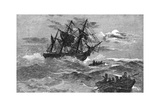The 'Endeavour' on the Reef, Australia, 1770 Giclee Print