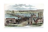 Union Volunteers Crossing the Ohio River, Cincinnati, Ohio, American Civil War, C1862 Giclee Print by H Lovie