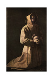 Sanctity: St Francis in Meditation, 1635-1639 Giclee Print by Francisco de Zurbaran