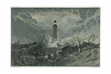Third Eddystone Lighthouse, 19th Century Giclee Print by Joseph Mallord William Turner