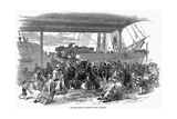 Irish Emigrants Embarking for America at Waterloo Docks, Liverpool, 1850 Giclee Print