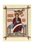 St John the Evangelist from the Lindisfarne (Durha) Gospel Book, C720 Giclee Print