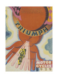 Poster Advertising Triumph Motor Bikes, 1929 Giclée-Druck