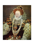 Elizabeth I, Queen of England and Ireland, C1588, (C1902-190) Giclee Print by George Gower