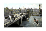 London Bridge after the 1904 Widening, London, 20th Century Giclee Print