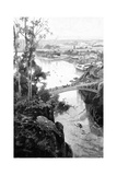 Launceston, from Cataract Bridge, Tasmania, Australia, 1886 Giclee Print