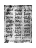 Hebrew Version of the Pentateuch, 1926 Giclee Print