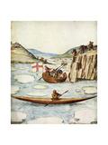 Eskimo Kayak, 1590 Giclee Print by John White