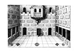 Interior of the Globe Theatre, Bankside, London, 1617-1619 Giclee Print